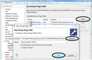configuracion plugins sdk liferay